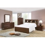 200719 Jessica Contemporary Bookcase Bedroom Set