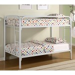 Fordham Twin Over Twin Bunk Bed with Built-In Ladders White