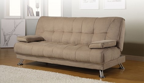 300147 Fabric Convertible Sofa Bed with Removable Armrests