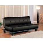 300163 Contemporary Armless Convertible Sofa Bed