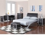 Leclair Black And Metal Youth Bedroom Set By Coaster - 300200