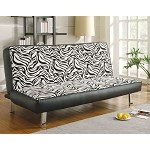 300230 Contemporary Styled Sofa Sleeper with Fold Down Futon Seat Back
