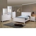 Sandy Beach Youth Sleigh Bedroom Set In White Finish