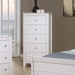 Sandy Beach Youth Chest Of Drawers In White Finish