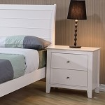 Sandy Beach Youth Nightstand In White Finish