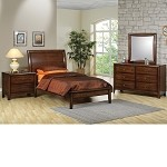 Phoenix Collection Bedroom Set Walnut Finish