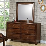 Phoenix Collection Dresser & Mirror Walnut Finish