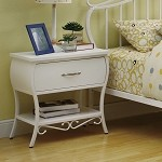 Bella Youth Nightstand In White Metal