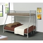 Denley Metal Twin over Full Bunk Bed Silver
