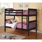460234 Twin/Twin Bunk Bed - Black
