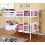 460244 Twin/Twin Bunk Bed - White