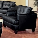 501683 Samuel Black Bonded Leather Armchair