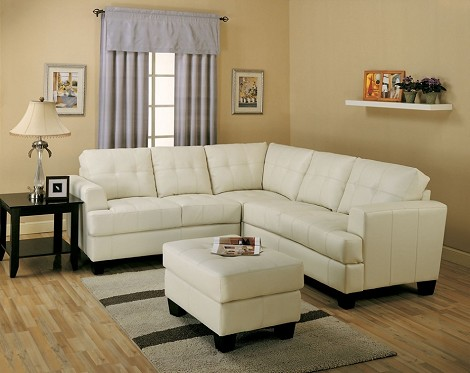 501711 Samuel Contemporary Leather Sectional Sofa