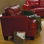 501833 Samuel Contemporary Leather Chair Red