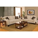 502471 Carver Sofa Set with Exposed Wood Base