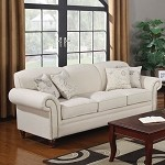 502511 Norah Antique Inspired Sofa with Nail Head Trim
