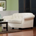 502552 Kristyna Bonded Leather Stationary Loveseat