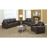 502731 Jasmine Leather Sofa Set Brown
