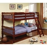 Corinth Twin Bunk Bed with Ladder Cherry