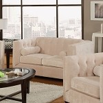 504392 Alexis Transitional Chesterfield Loveseat