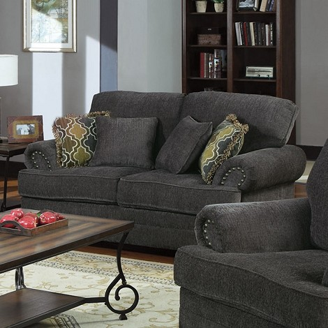 504402 Colton Traditional Grey Loveseat