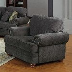 504403 Colton Traditional Grey Armchair