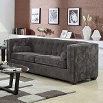 504491 Alexis Transitional Chesterfield Sofa