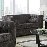 504492 Alexis Transitional Chesterfield Loveseat