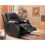 c600248  Upholstered Rocker Recliner Black