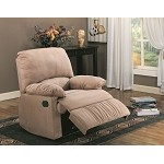 c600264 Casual Microfiber Recliner Light Brown
