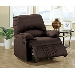 c600266 Casual Microfiber Recliner Chocolate