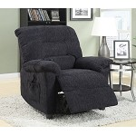 601015 Power Lift Recliner with Remote Control Black