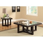 701767 Contemporary Accent Tables w/Tempered Glass