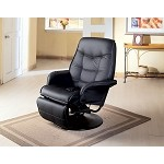 7501 Berri Swivel Recliner with Flared Arms Black