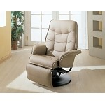 7502 Berri Swivel Recliner with Flared Arms Beige