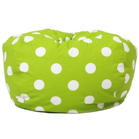 Classic Bean Bag Chartreuse W/White Dots