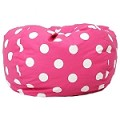 Classic Bean Bag Pink W/White Peace Symbols