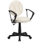 Baseball Task Chair With Arms [Bt-6179-Base-A-Gg]