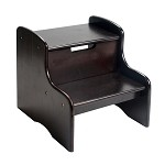 1404E  Childrens two step stool espresso finish