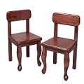 3003C  A Pair of Queen Anne Chairs Cherry