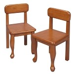 3003H  A Pair of Queen Anne Chairs Honey