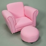 6715P  Child's Upholstered Rocker w/Ottoman  - Pink
