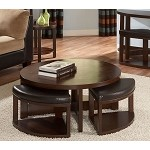 3292 Brussel II Coffee table with 4 ottomans