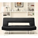 4805blk Drake Elegant Sofa Bed Black