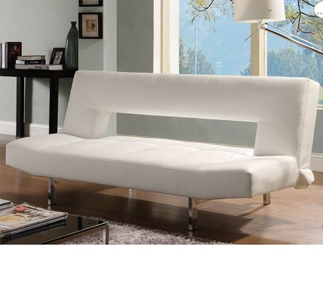 4805wht Drake Elegant Sofa Bed White