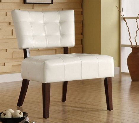 489wt Warner Accent Chair White