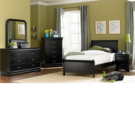 539TBK Marianne Bedroom Set Black