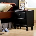 875T Pottery Nightstand Black