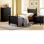 875T Pottery Bedroom Set Black