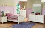 875T Pottery Bedroom Set White